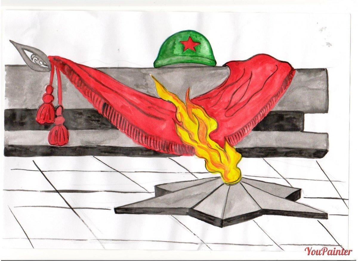 Картинки ко дню победы в великой отечественной войне карандашом